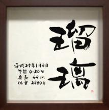 命名書 シンプルタイプ Lサイズ ブラウン (29) 瑠璃